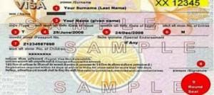 Indian Visa Sticker
