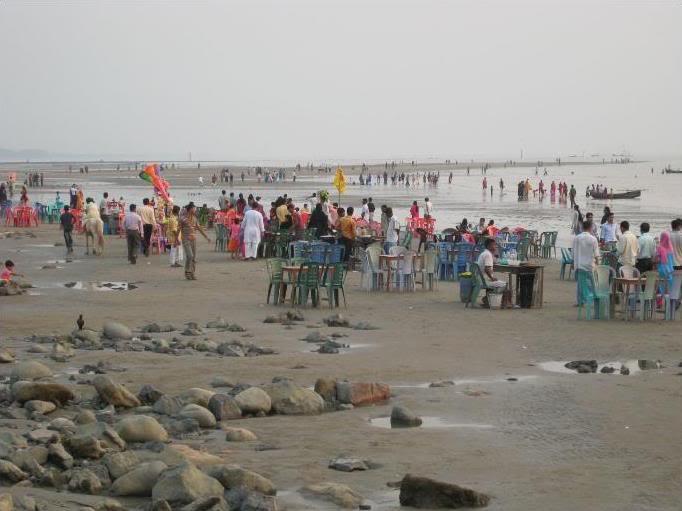patenga sea beach on karnaphuli in chittagong bangladesh