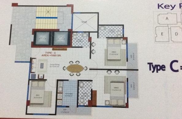 Flat Sale Dhaka Uttara Azampur Area 1102 Sft